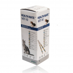 50 Test strips per tube. Four languages, English, French, German or Spanish (instructions in English). Specific Gravity range more suited to animals.