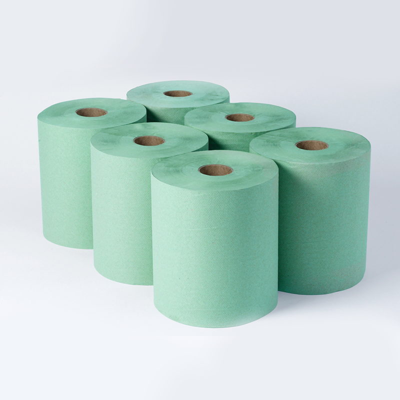 2 Ply Embossed Veterinary / Agricultural Centrefeed Roll. 140M x 230mm x 28gsm. Quantity: 6 Rolls
