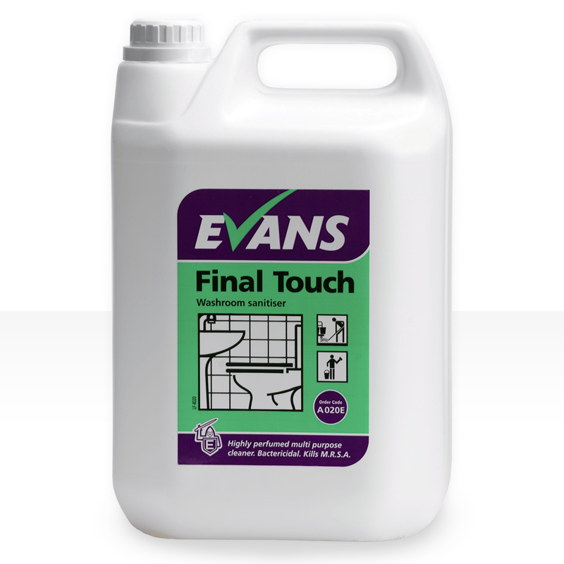 Highly perfumed, bactericidal washroom cleaner. Kills a range of bacteria, including Legionella, MRSA & E-coli. Passes EN 1276 at recommended dilution rate & contact time