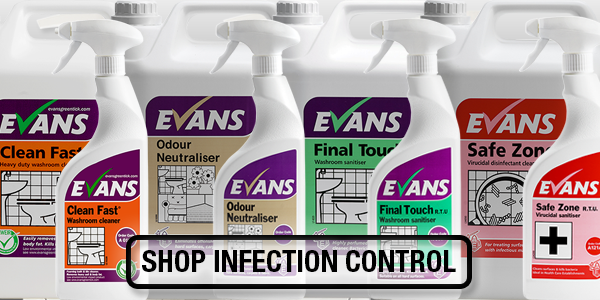 Hard surface cleaners, evans vanodine. Shop Infection Control. Shared Health Supplies landing slide