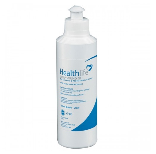 ypoallergenic, water soluble gel for use with all types of ultrasound machines, it also can be used with cavitation, radio frequency and weight loss equipment. The consistency is specially formulated to act as a coupling agent and reduce static when using a Doppler, especially for fetal development images. The gel is also acoustically efficient to transmit effectively the range of ultrasound frequencies being used.